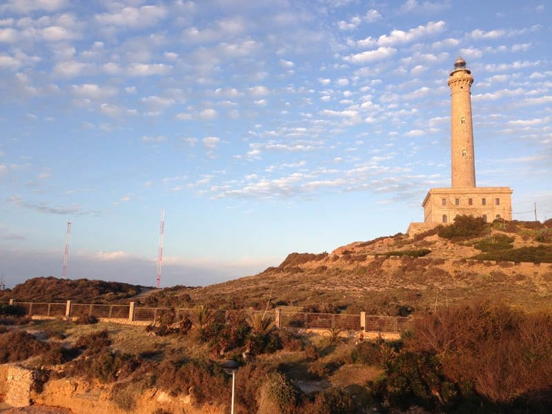 Panorámica del faro del Cabo de paloes en la Manga del Mar Menor