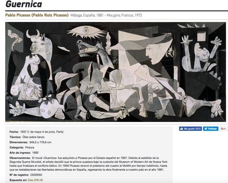 El Guernica se expone en el Reina Sofía desde hace 25 años