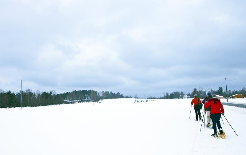 Paseo con raquetas nieve
