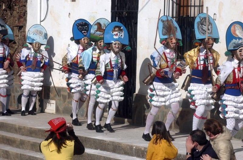 Detalle del carnaval de Laza
