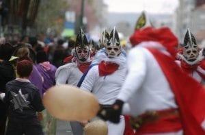 Escena del carnaval en Xinzo de Limia