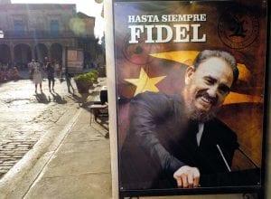 Cartel de despedida a Fidel castro con motivo de su muerte en La Habana