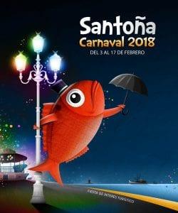 Cartel del carnaval de Santoña 2018