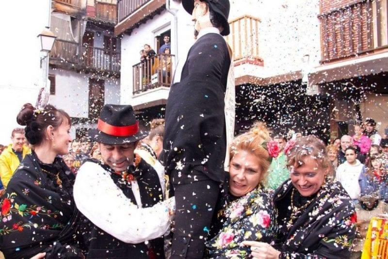 El peropalo está declarada fiesta de interes turístico de Extremadura