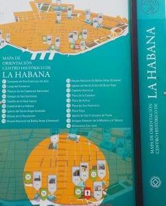 Plano de La Habana Vieja en una calle
