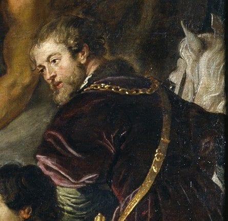 Retrato del rey Felipe IV en el cuadro de Rubens