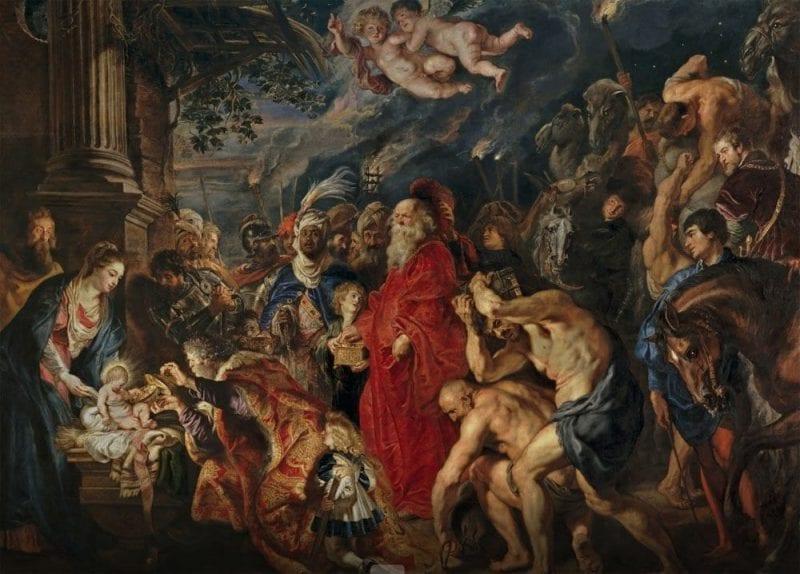 La adoración de los Magos está en el Museo del Prado de Madrid