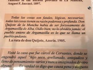 Azorín cervantes Argamasilla de Alba