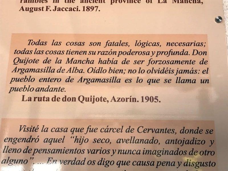 Opinión de Azorín sonre Argamasilla de Alba