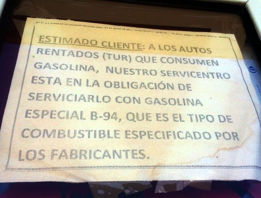 Aviso para turistas en las gasolineras en Cuba