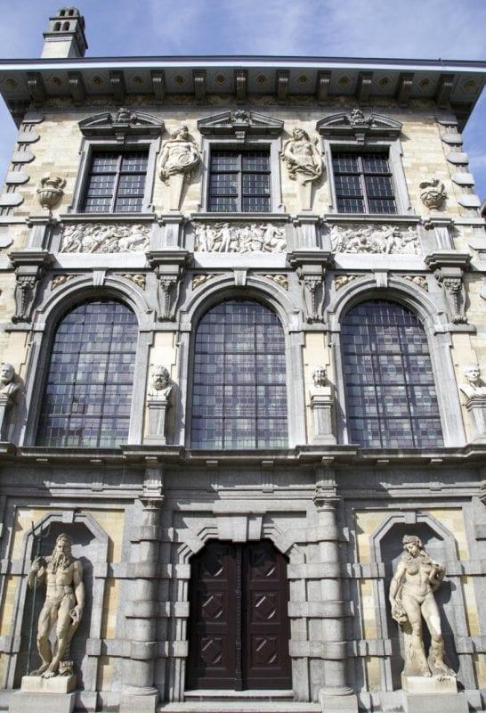 Detalle de la fachada de la casa de Rubens