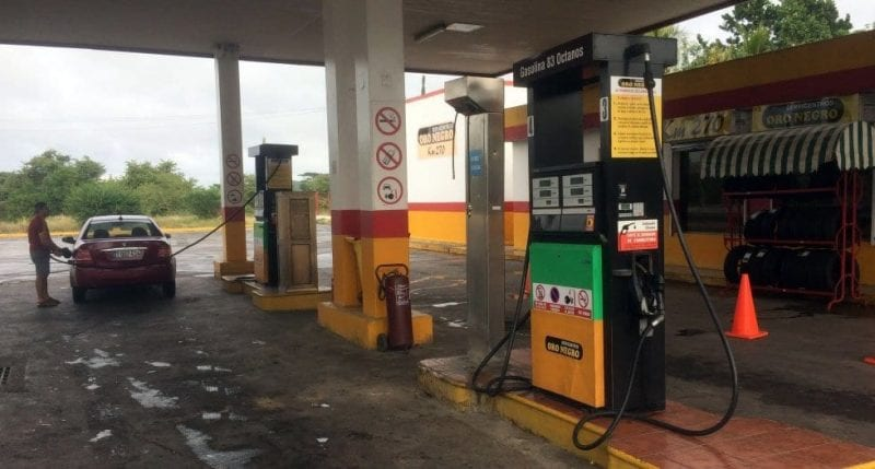 Gasolinera tipo en Cuba