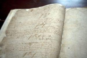 manuscrito cervantes Colegiata Santa María alcazar san juan
