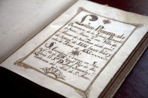 Libro de bautismo de Cervantes alcazar san juan
