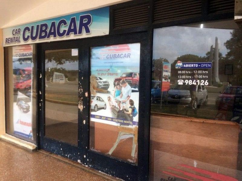 Hay oficinas de Cubacar por toda la isla