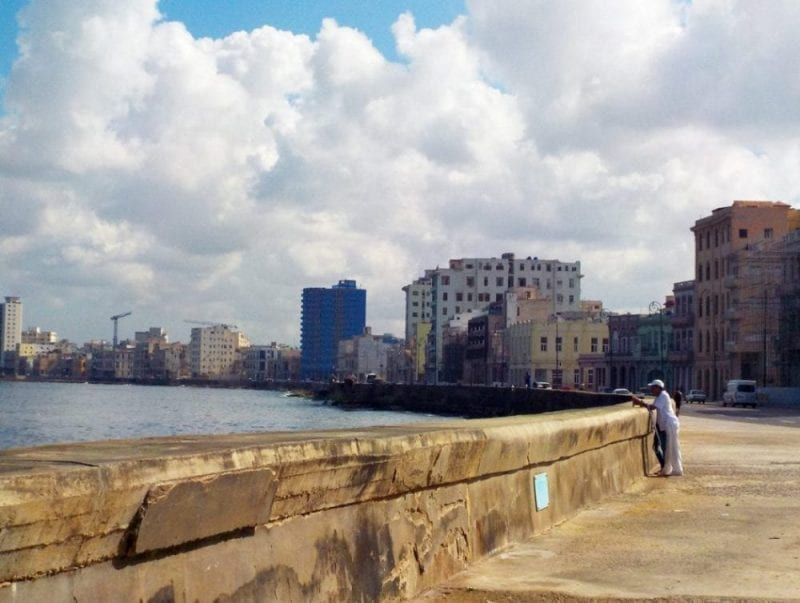 Panoramica del Malecón de La Habana