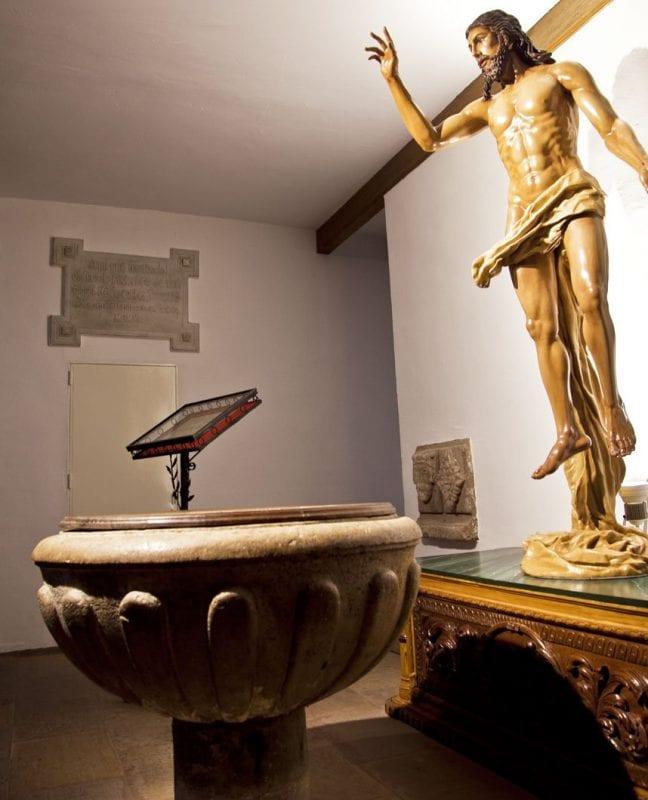Pila bautismal de Miguel de Cervantes