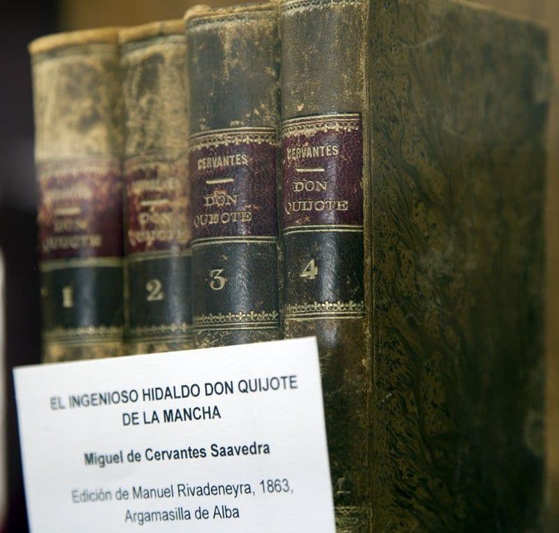 Ejemplares de El Quijote de la edición de Argamasila de Alba