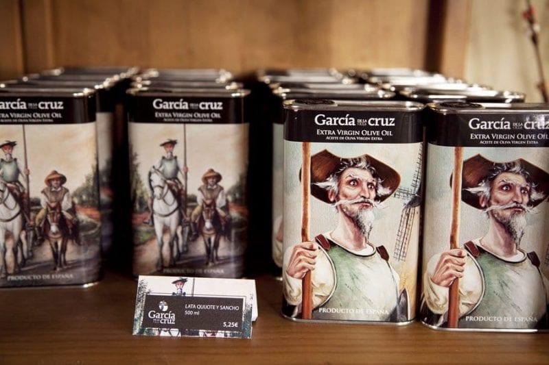 Edición especial de aceite dedicada al Quijote