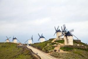 Conjunto molinero de Consuegra en el Cerro Calderico