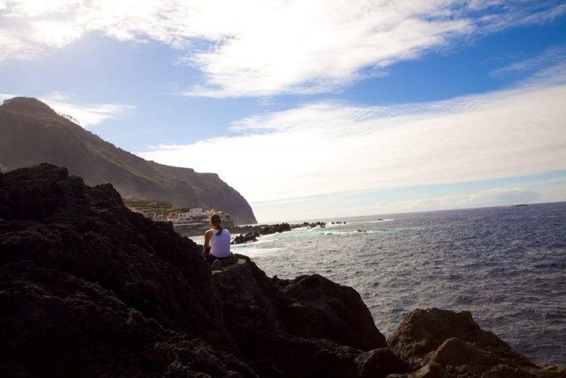 Vistas de la costa de Madeira