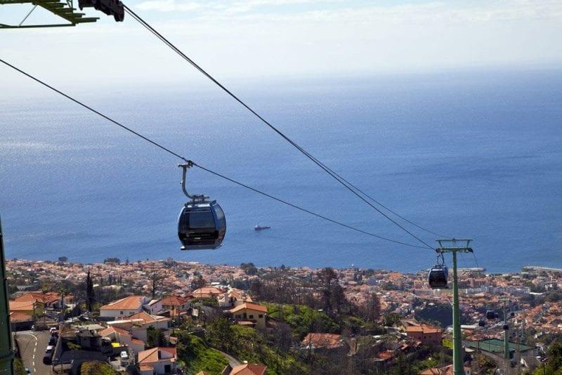 Panorámica de Funchal desde el teleférico