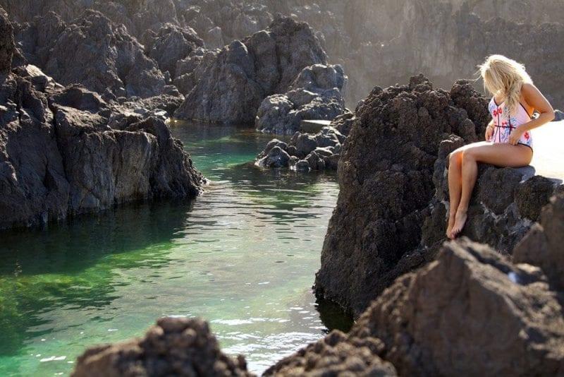 Las piscinas de Porto Moniz son de agua de mar