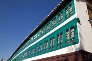 Detalle de la plaza Mayor de Almagro
