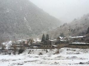 En invierno, los alrededores de Caldea están nevados