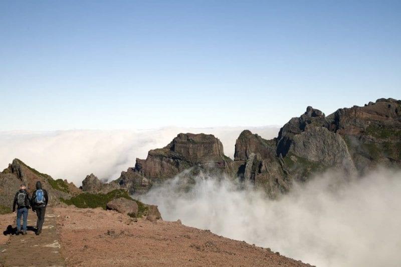 En Madeira hay muchas rutas de senderismo a gran altura