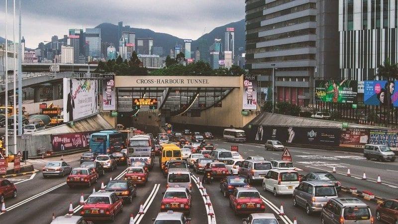 Los atascos en Hong Kong son habituales