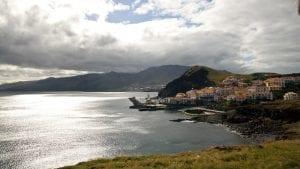 Panorámica de la costa de Madeira