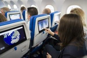 El entretenimiento a bordo, importante en vuelos largos