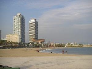 Panorámica de Barcelona desde el mar