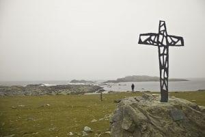 Hay en Inishbofin hay muchos símbolos religiosos