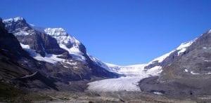 En el glaciar de Athabasca hay nieve todo el año