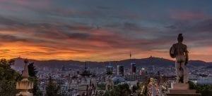 Panorámica de Barcelona desde Montjuic