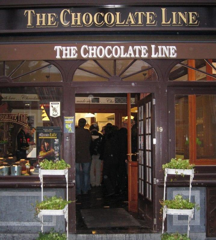 También hay tienda Chocolate Line en Brujas