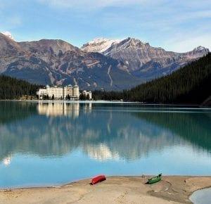 El lago Luisa, uno de los más fotografiados en Banff