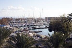 Yates atracados en Palma de Mallorca