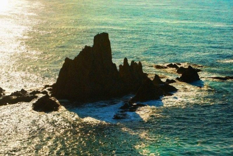 Chimeneas volcánicas en el Cabo de Gata