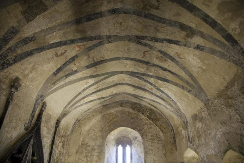 Pinturas en la abadía del siglo XIII