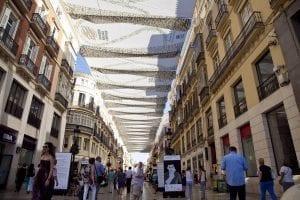Calle Larios en verano