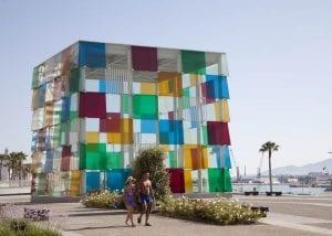 Cubo de acceso al Pompidou Málaga