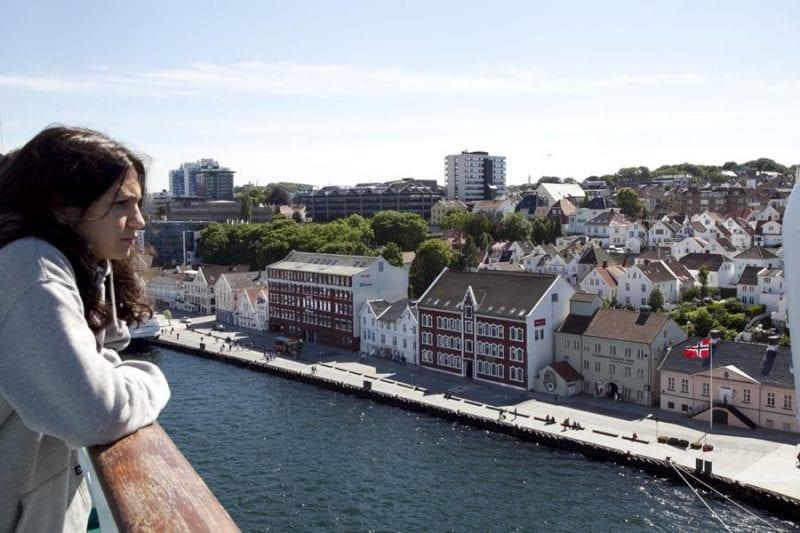 Vistas de Skjolden desde el barco