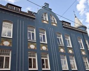 Fachada art nouveau en Alesund