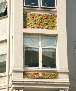 Detalle art nouveau en Alesund