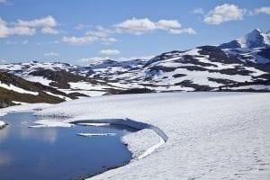 En Noruega se puede ver nieve todo el año