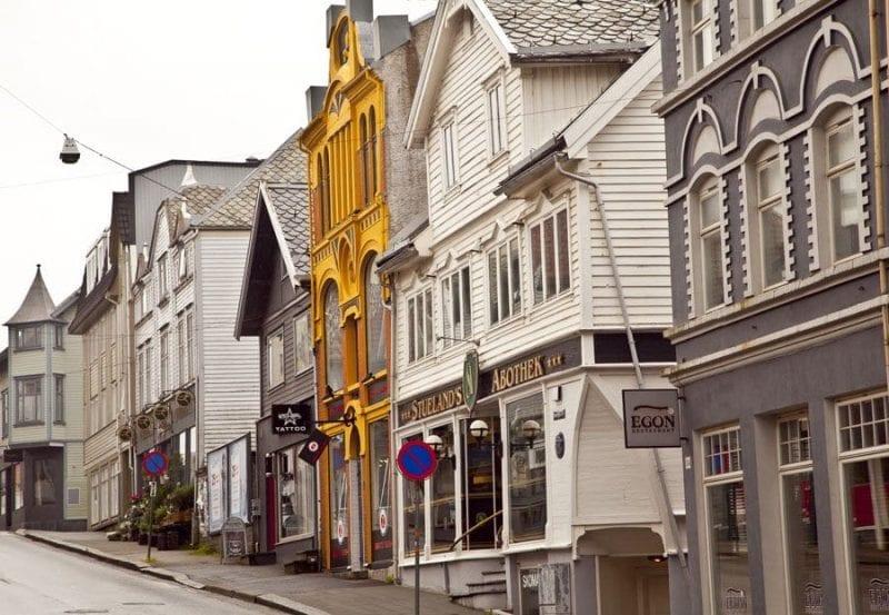 Detalle casas de Haugesund