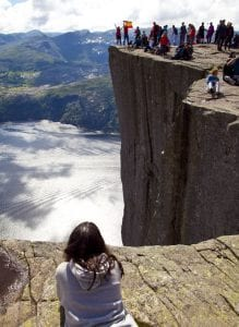 Vista de la Pulpit Rock en Stavanger